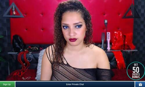 Sultry Latina on ImLive, a best of 2021 premium site with low cost chats